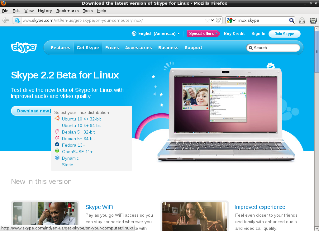Picture of Skype for Linux?