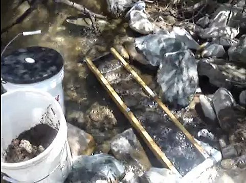 Picture of Using the Sluice in a Stream