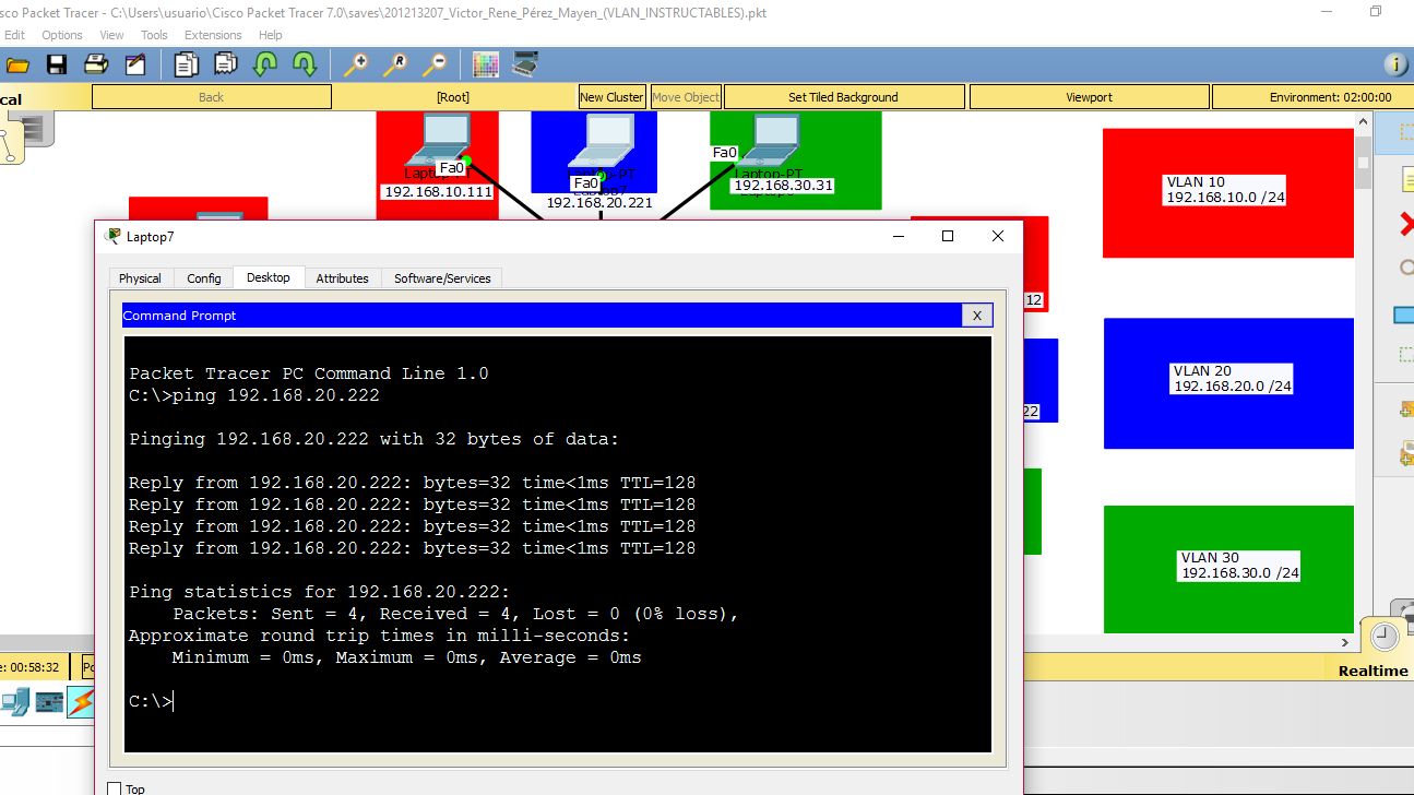 Picture of Communication in the Same Vlan