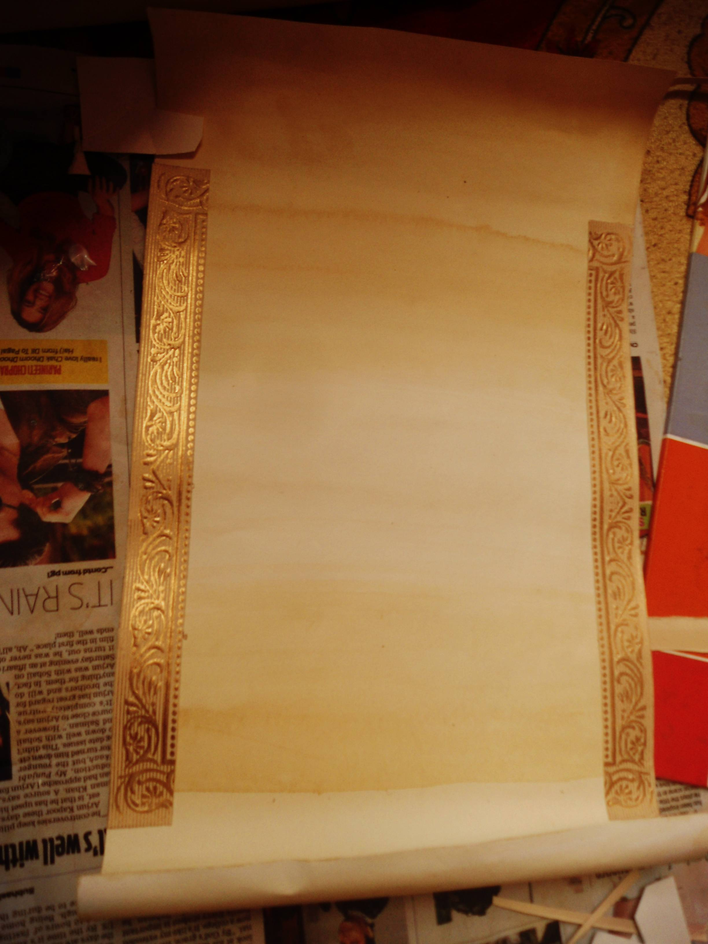 Picture of Glue Decorative Paper Strip As Shown.