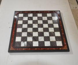 Stone Chess Board Build From Scrap