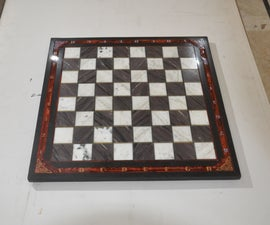 Stone Chess Board Build From Scrap