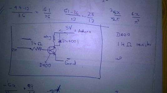 Connect Through Transisitor and a Relay...