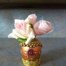 Egg shell vase