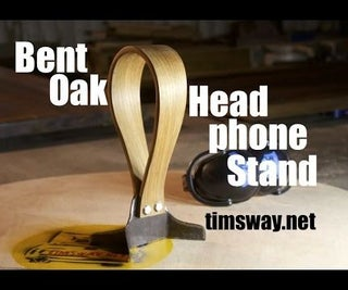 Steam-bent Headphone Stand Made From Reclaimed Materials