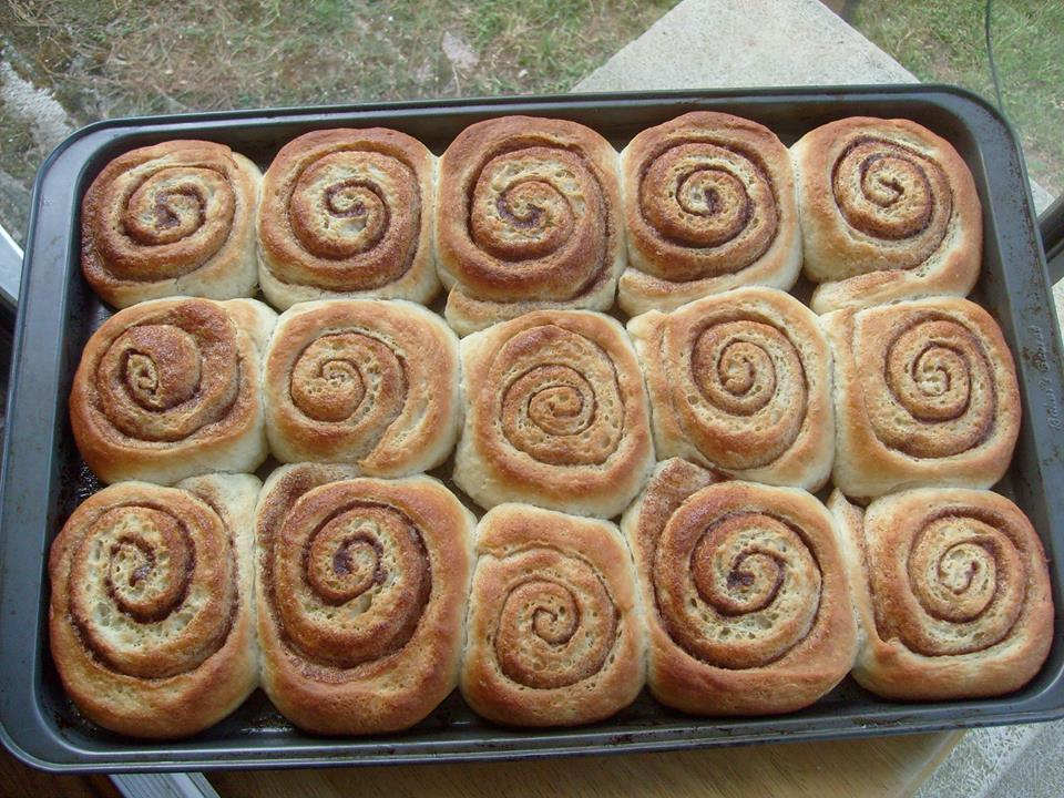 Picture of Spudnut Cinnamon Rolls and Coffee, Breakfast of Real People