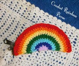 Crochet Rainbow Coin Purse