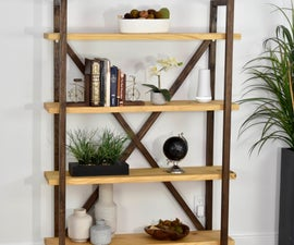 DIY RUSTIC MODERN BOOKSHELF AND STORAGE