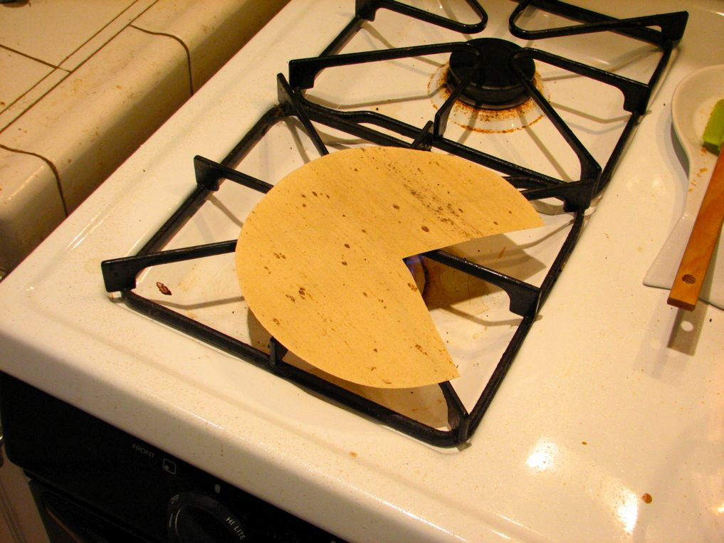 Picture of Cooking a Reshaped Papadum
