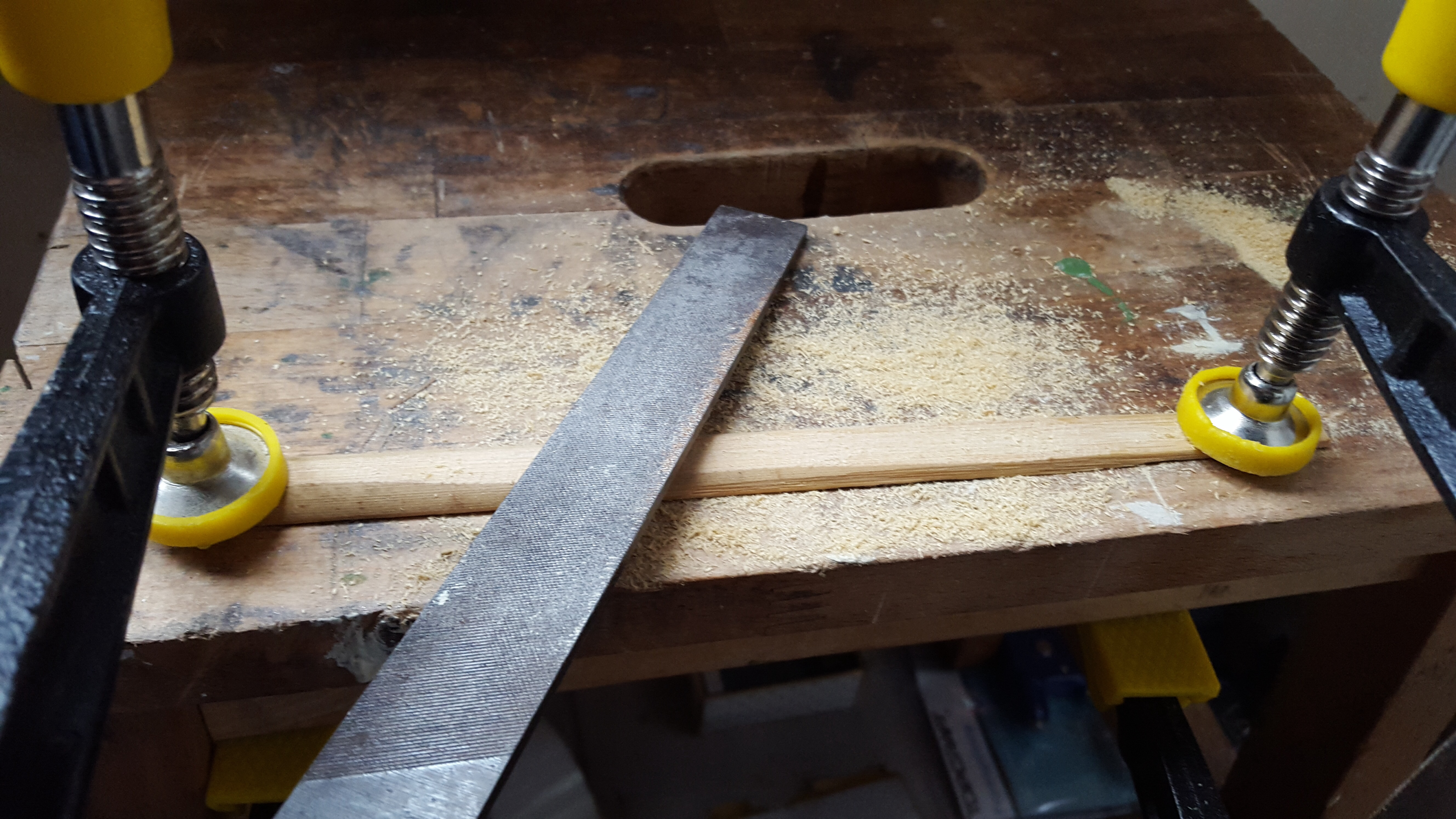 Picture of Making the Strip Ready for Heat Bending
