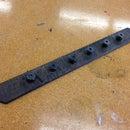 Rustic wood & bolt hanger for jewelry, towels, coats, etc
