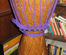 Homemade Djembe African Hand Drum