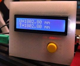 Digital 3D printer filament counter use PS/2 mouse