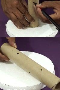Draw Pints on Cardboard Pipe!