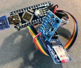 Simple Arduino 3-Axis Accelerometer Datalogger