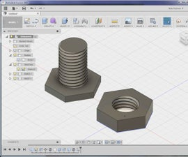 Threaded Nut and Bolt With Fusion 360