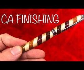 Applying a CA Glue Finish on a Pen