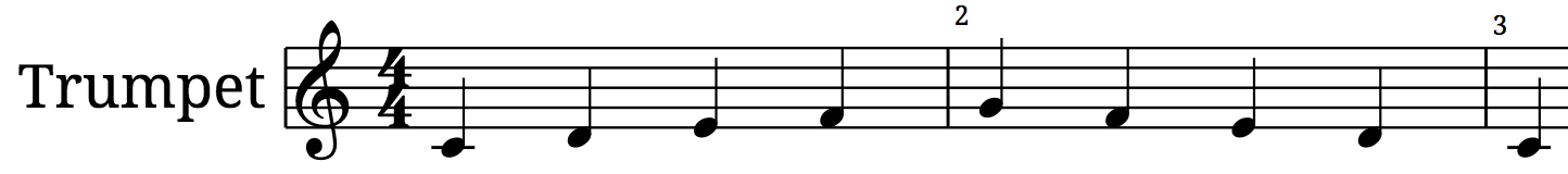 Picture of How to Play an Easy Trumpet Scale