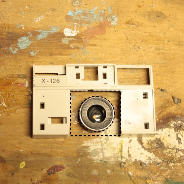 Picture of Cut Out and Shape the Lens Assembly