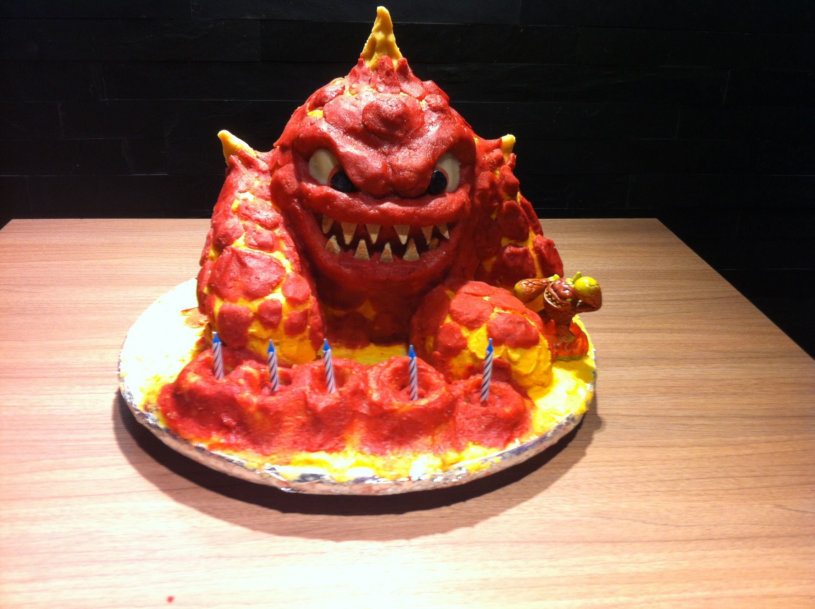 Super How To Make A Skylander Birthday Cake Eruptor 3D Cake With Funny Birthday Cards Online Elaedamsfinfo