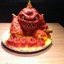 How to make a Skylander Birthday Cake: Eruptor 3D cake