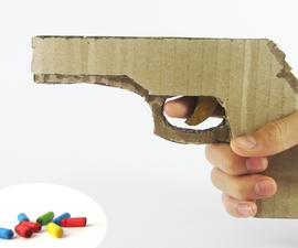 Cardboard Gun That Shoots Rubber Bands