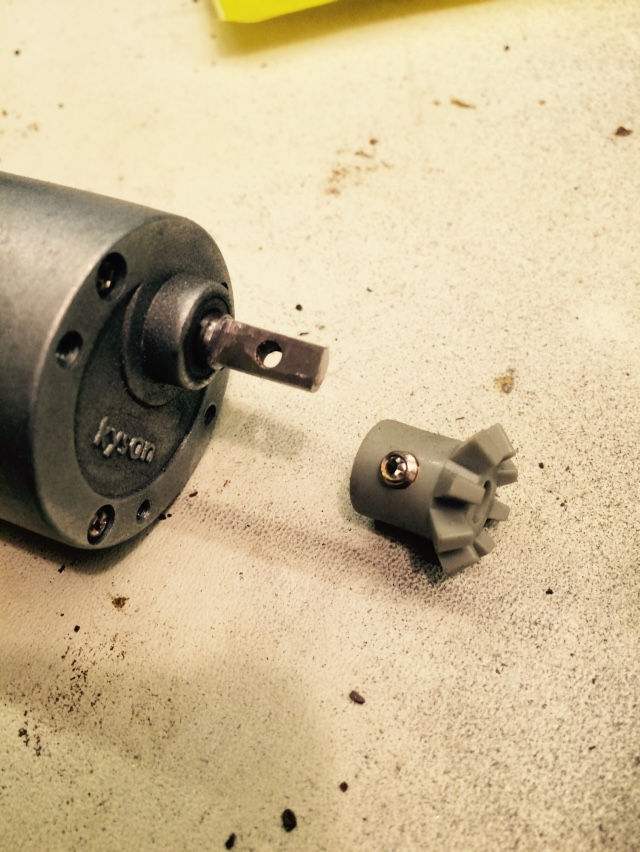 Picture of Modify Motor Shaft