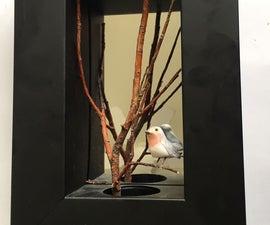 Bird Shadow Box - 3D Art