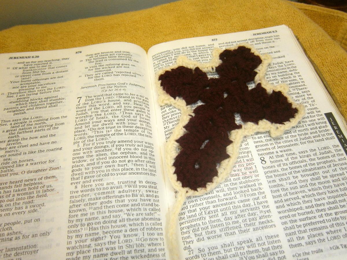 Picture of Crochet Cross Bookmark
