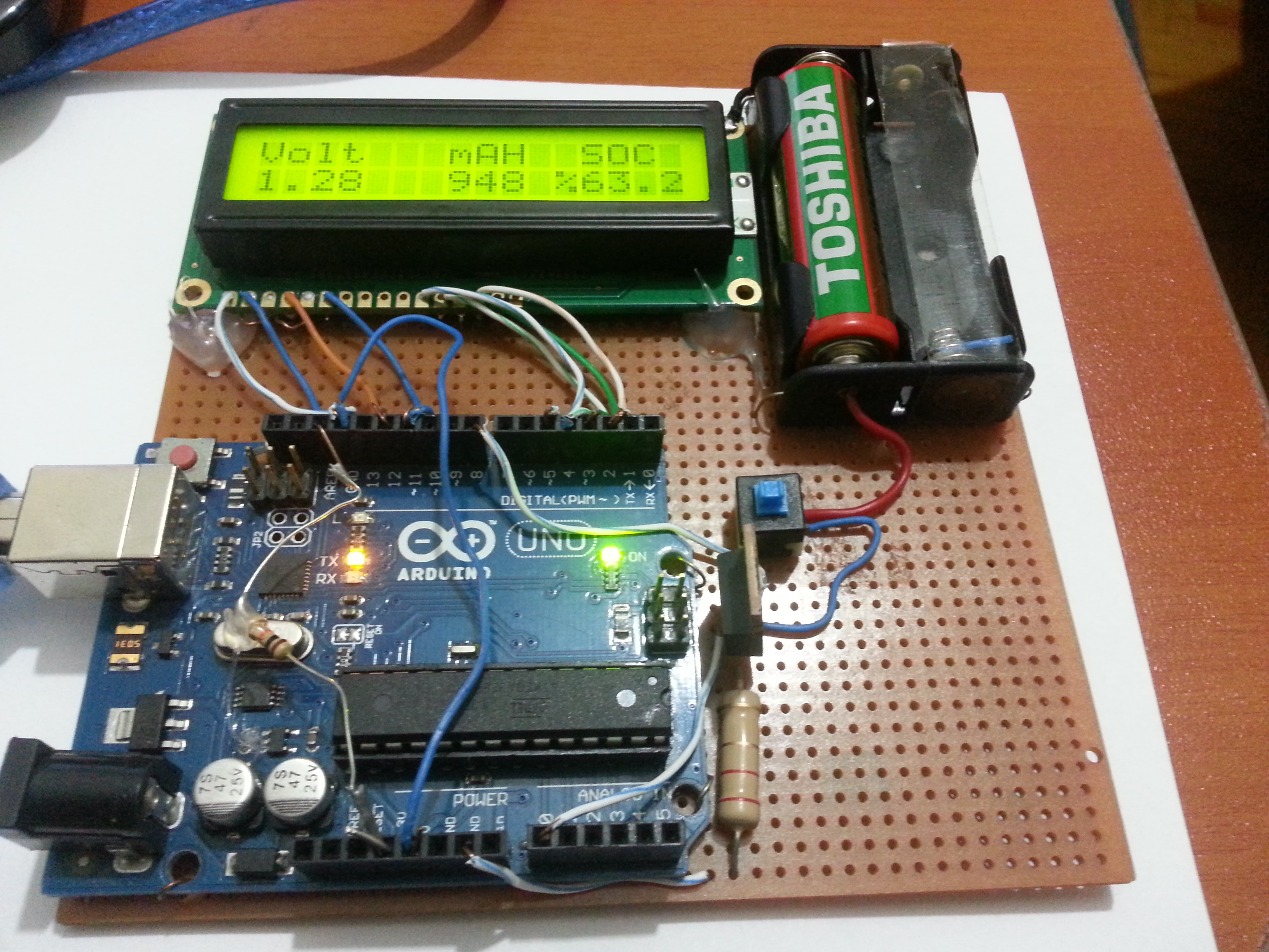 Picture of Battery Capacity Tester (Arduino)