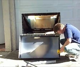Salvaging the Fresnel Lens from  a Rear Projection TV