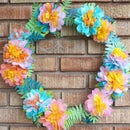 Dip Dyed Coffee Filter Paper Flower Wreath
