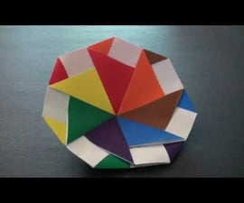 How to make an origami Modular Spinning Top!