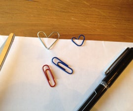 Paper clip Hearts
