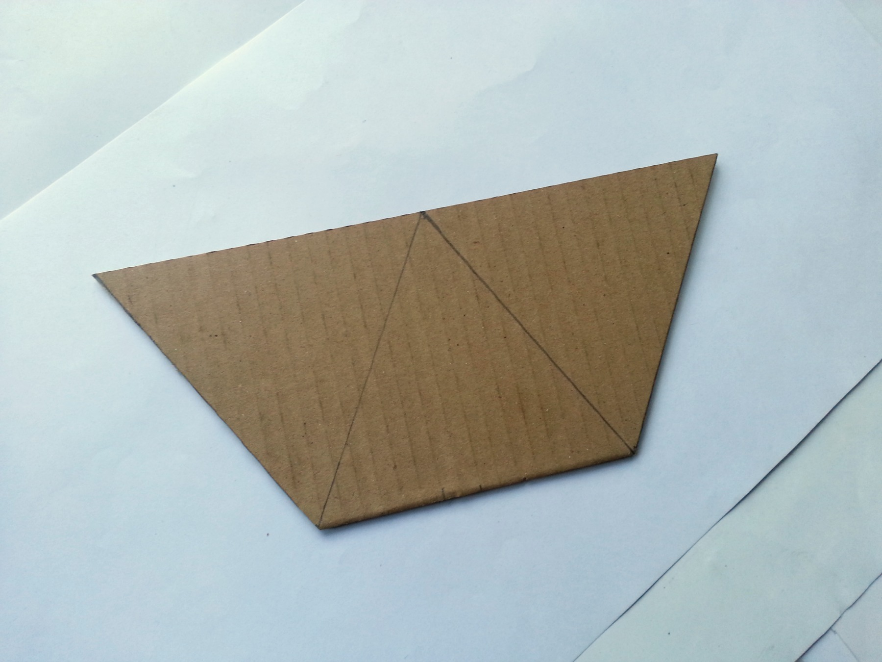 Picture of Drawing and Cutting Pattern for Basket