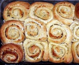 Garlic Spiral Bread Rolls