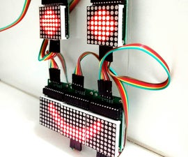 Controlling LED Matrix Array With Arduino Uno (Arduino Powered Robot Face)