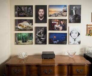 Easy Change Floating Photo Wall