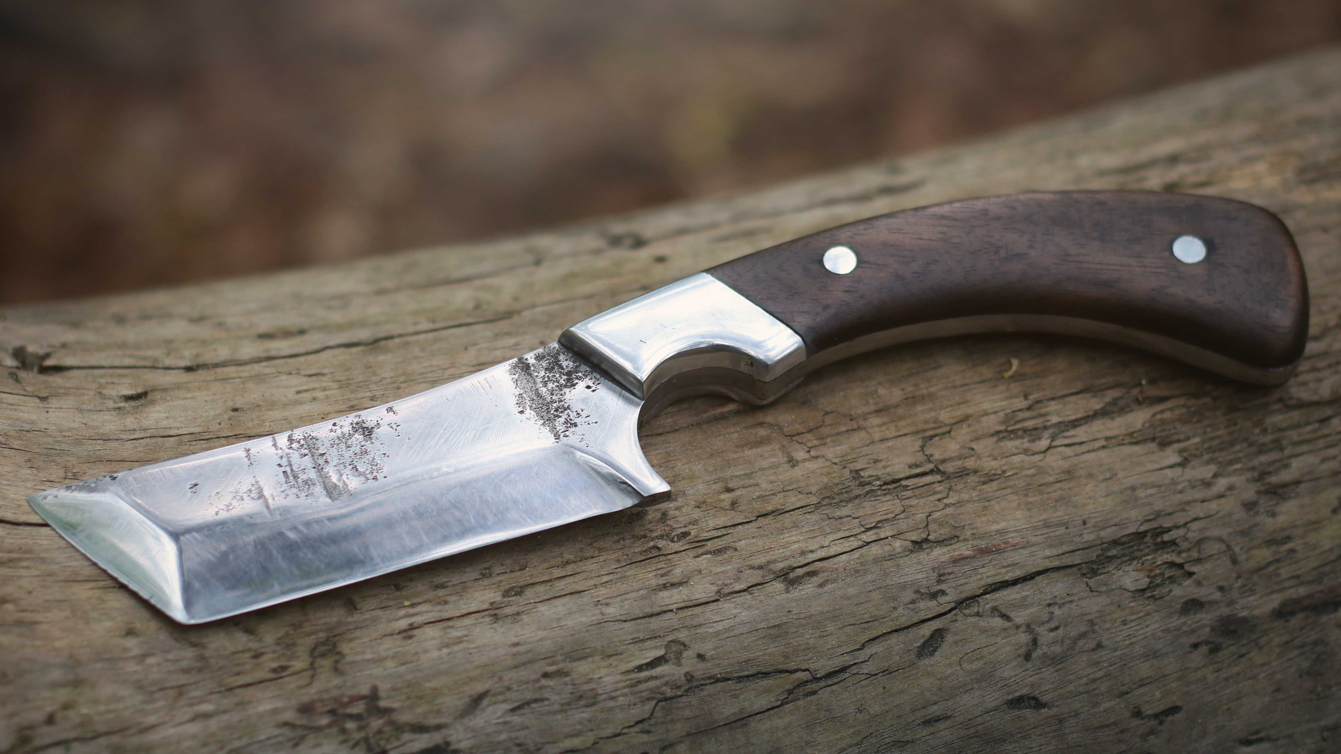 Picture of Tanto Knife From Lawn Mower Blade
