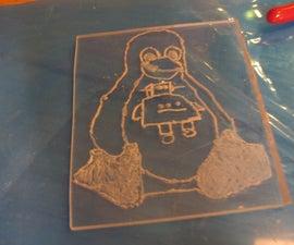 plexiglass etching part 1