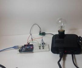 Control AC dimmer Lamp using Arduino
