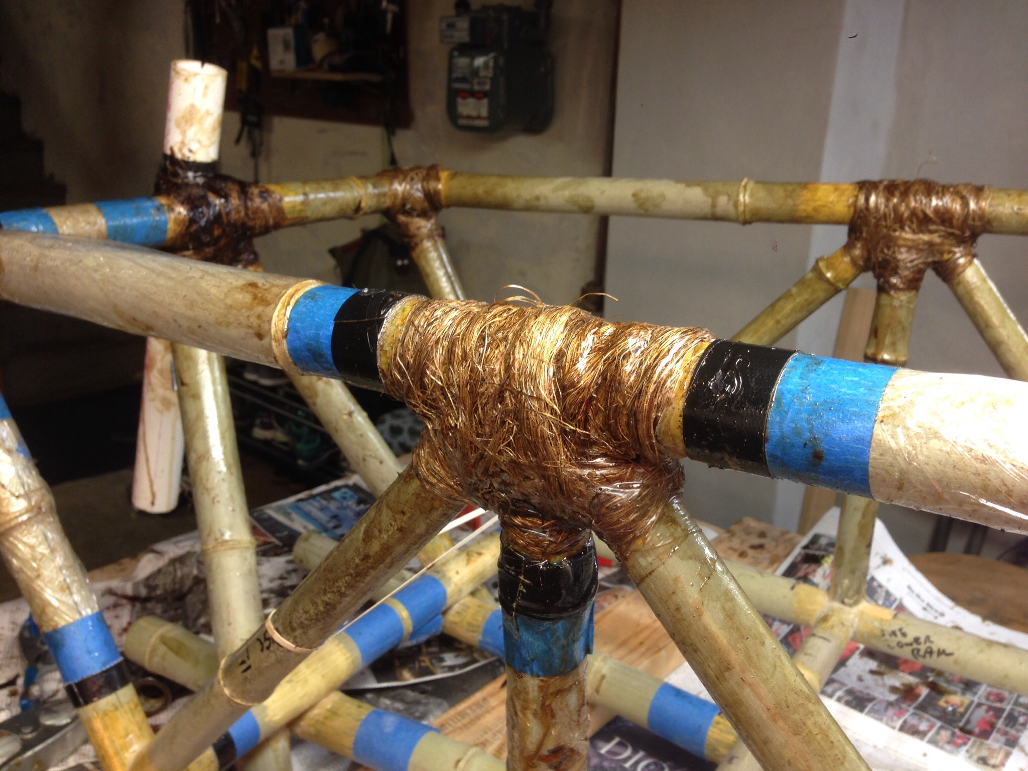 Picture of Tubes Tacked, Freed From the Jig, Joint Wrapping Time