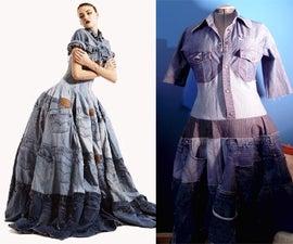 Recycled Denim Dress