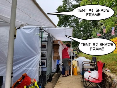 PVC Extended Shade Frame for Craft Show Tents