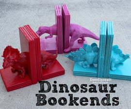 Dinosaur Bookends with Hot Glue!