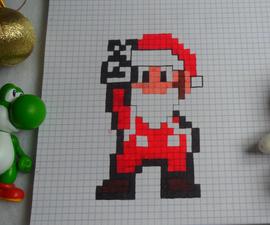 Christmas Mario Pixel Art