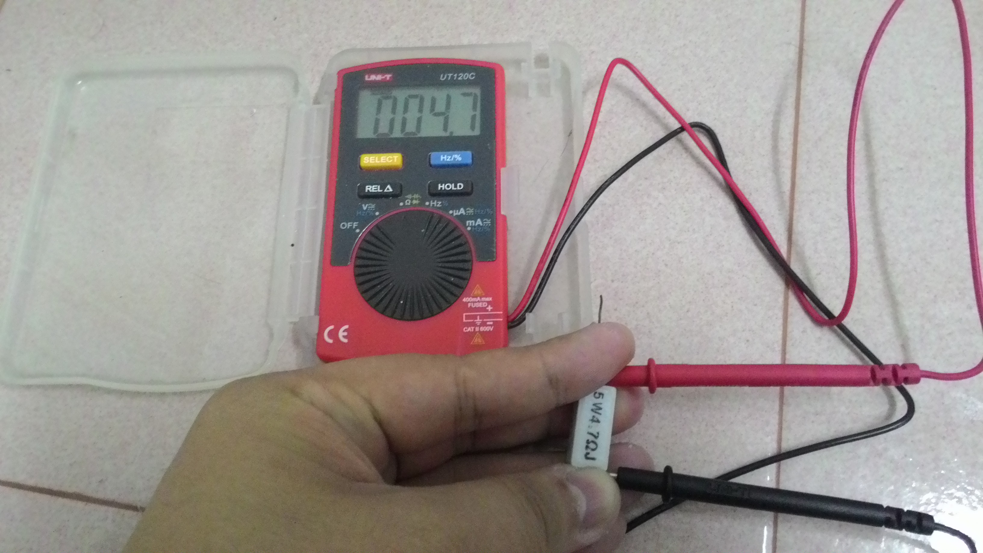 Picture of Double Confirm the Resistance of the Resistor