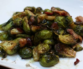 Roasted Brussel Sprouts With Garlic and Bacon