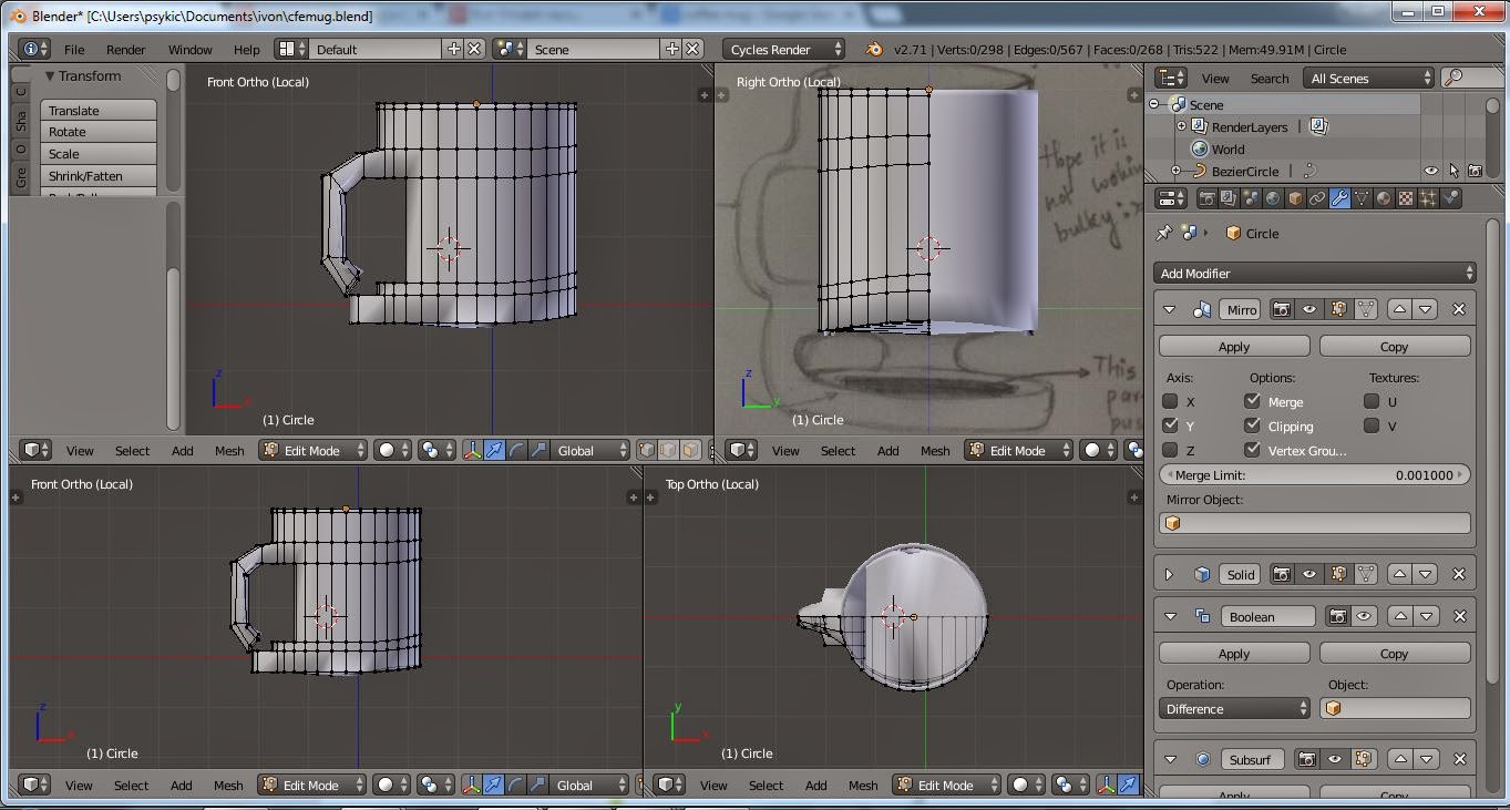Picture of Beginning Work in 3D!