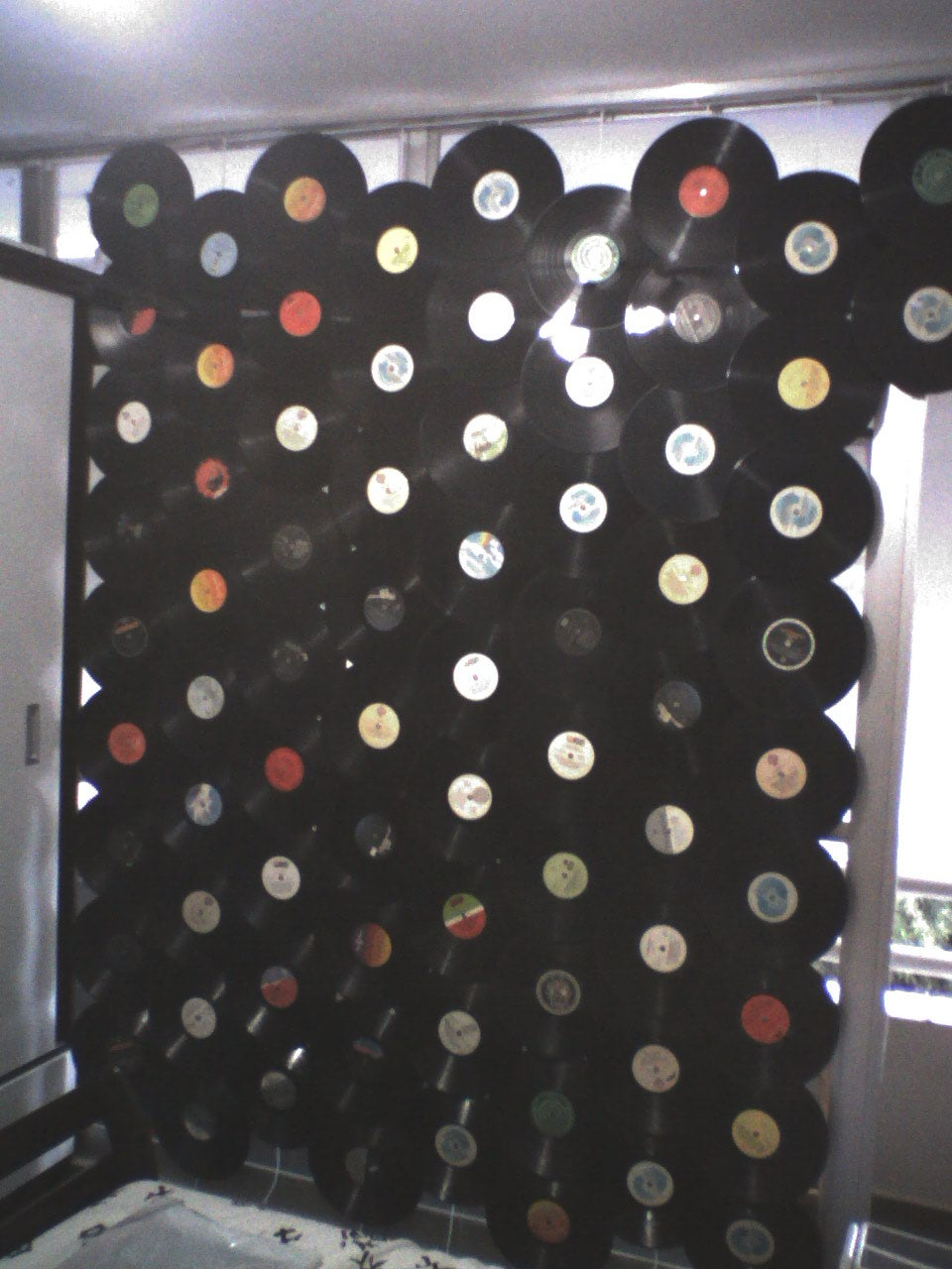 Vinyl Discs Curtain 3 Steps